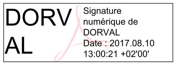 Signature incluse dans document PDF